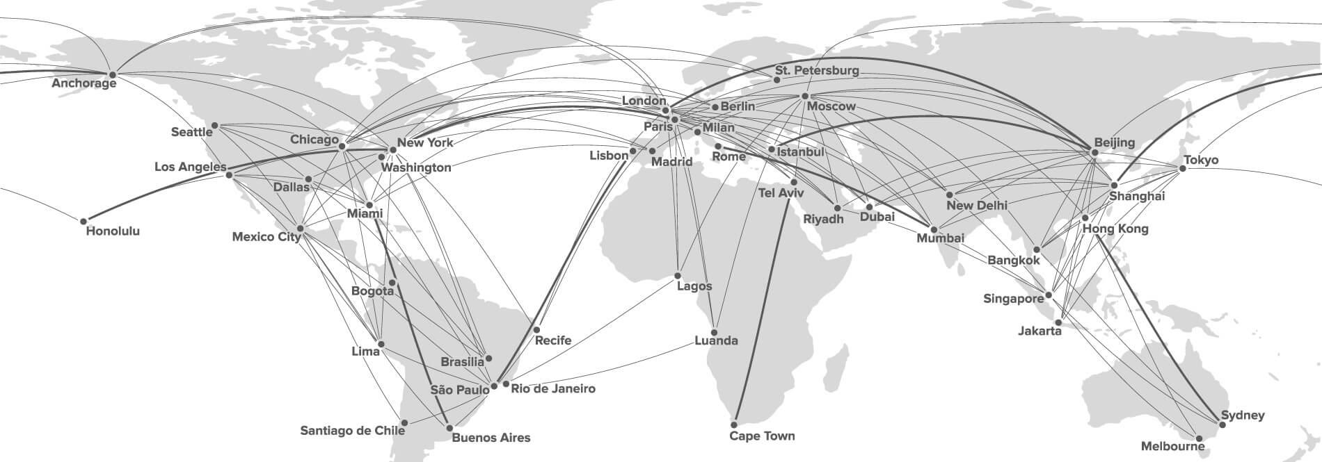 Карта расстояний Citation Hemisphere