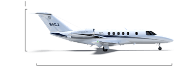 Citation CJ4 overall height/length
