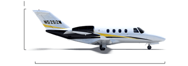 Citation M2 overall height/length