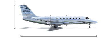 Citation Sovereign+ overall height/length