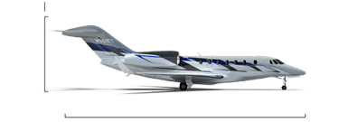 Citation X+ overall height/length