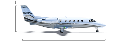 Citation XLS+ overall height/length